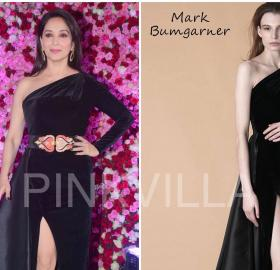 Celebrity Style,madhuri dixit,ami patel,etro,Madhuri Dixit Nene,Aurelle by Leshna Shah,Sanjay Kumar Dauhaliya,Lux Golden Rose Awards,Mark Bumgarner,Lux Golden Rose Awards 2017