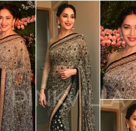 Celebrity Style,madhuri dixit,tarun tahiliani,ami patel,Virat Anushka Wedding Reception