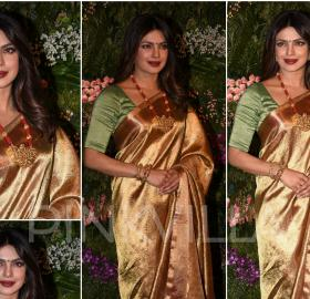 Celebrity Style,Priyanka Chopra,ami patel,Jaipur Gems,Virat Anushka Wedding Reception