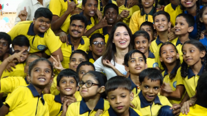 Tamannaah Bhatia looks all happy as she spend time with children this children's day