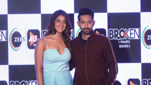 Vikrant Massey, Harleen Sethi and Ekta Kapoor snapped at the launch of Broken But Beautiful Season 2