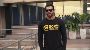 John Abraham looks dapper in casual outfit as gets spotted in the city