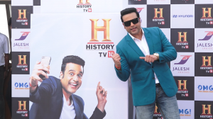 Krushna Abhishek spotted at an event for his show OMG Yeh Mera India