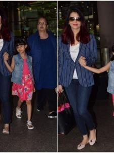 Aishwarya Rai Bachchan returns with daughter Aaradhya from the USA