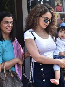 Kangana Ranaut is all smiles while getting papped in the city