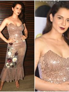 Kangana Ranaut looks stunning as ever as she attends Manikarnika's wrap up bash