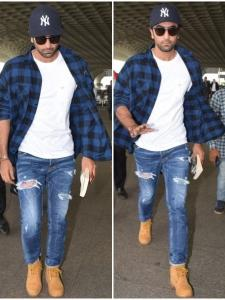 Ranbir Kapoor gets papped at the airport