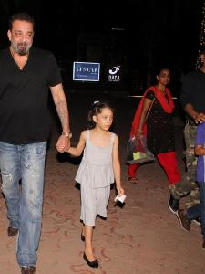 Sanjay Dutt dines out with his kids