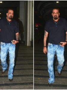 Sanjay Dutt papped in the city