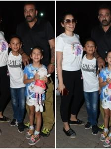 Sanjay Dutt spotted with his family post ad shoot