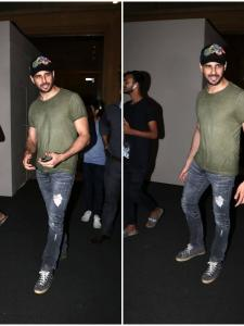 Sidharth Malhotra snapped post-meeting in the city