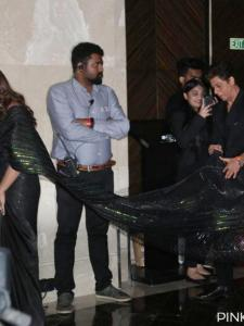 Shah Rukh Khan and Gauri Khan: When the King of Bollywood held his wife's long trail on a red carpet