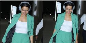 Shraddha Kapoor in a pastel green pantsuit; Yay or Nay?