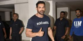 PHOTOS: John Abraham goes to meet filmmaker Karan Johar; is a new movie on the cards?