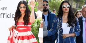 Cannes 2019: Aishwarya Rai Bachchan pulls off two summer looks; a casual striped dress and an all denim look
