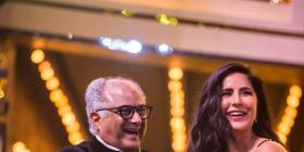 Katrina Kaif is all smiles as she receives Best Supporting Actress Award for Zero from Boney Kapoor; see pic