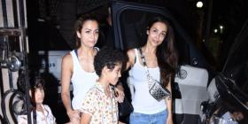 PHOTOS: Malaika Arora, sister Amrita Arora & kids visit their mother's residence