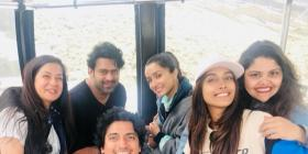 Saaho actors Prabhas and Shraddha Kapoor have some fun time with others on the sets of the movie; View PICs