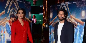 PICS: The Zoya Factor's Sonam Kapoor & Dulquer Salmaan keep it classy as they arrive at the film's screening