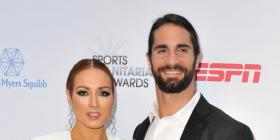 WWE couple Seth Rollins and Becky Lynch's fashion game is on point at the ESPN Sports Humanitarian Awards