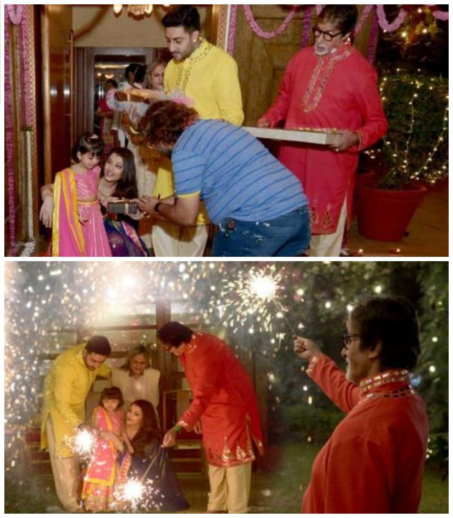 Aww! Aaradhya enjoys Diwali with family, Big B shares picture!