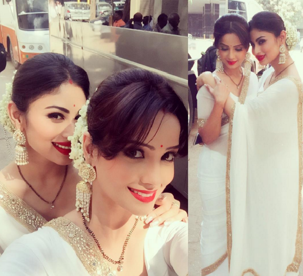 Mouni and Adaa dress alike to shoot special sequence for ...