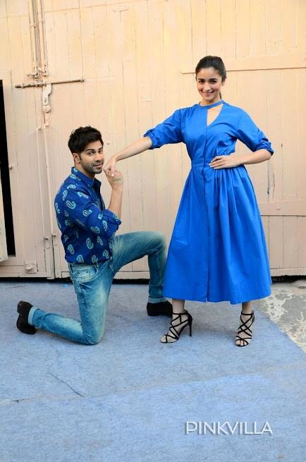 Twinning with co-star Varun Dhawan as she dons an outfit by Lovebirds
