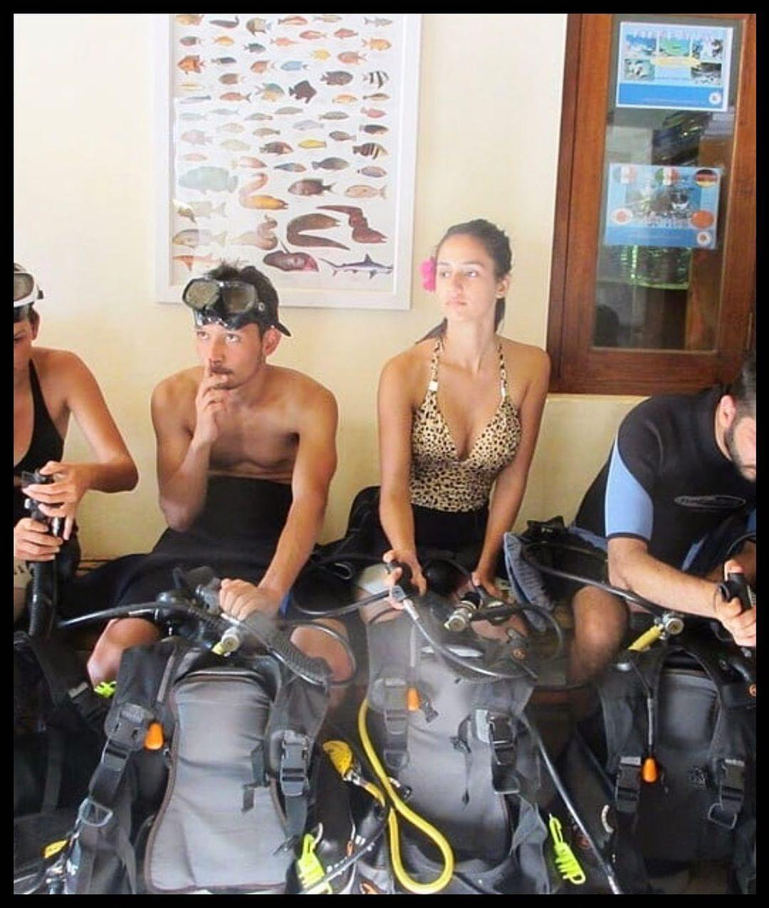 All set for scuba diving