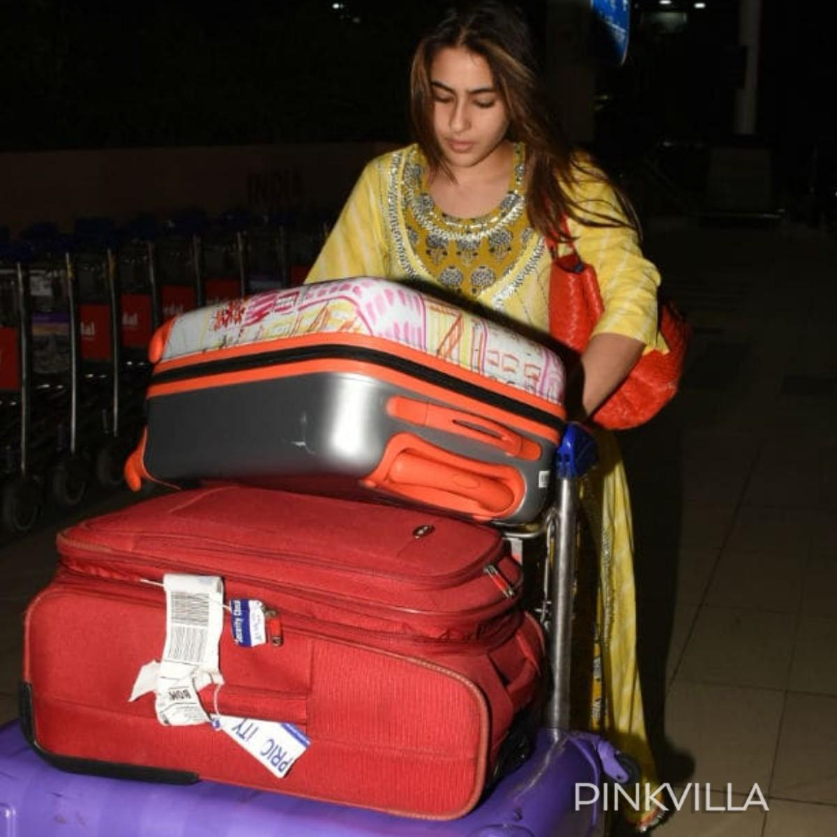 Sara Ali Khan gave us a glimpse of her modest side when she carried her own luggage at the airport