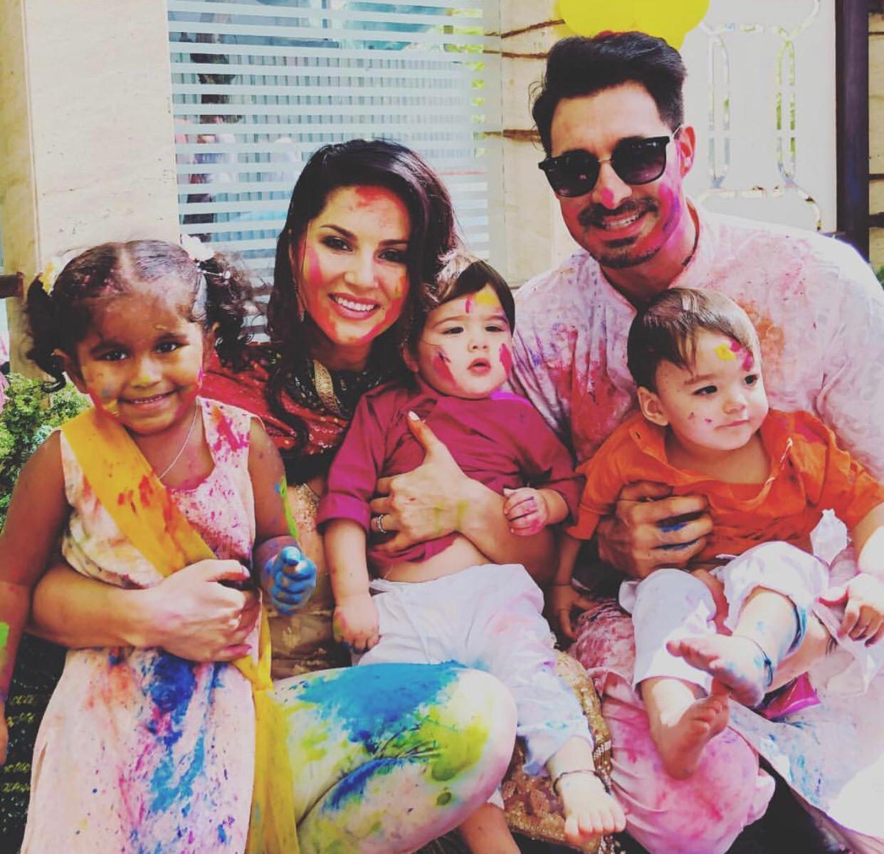 Holi with family is the best thing