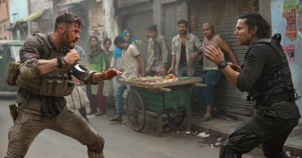 A glimpse behind the scenes of Chris Hemsworth's latest action-packed film
