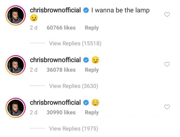 Chris Brown Dragged For Leaving Thirsty Comment On Rihanna Underwear Photo