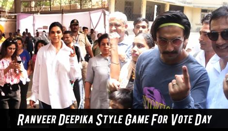 Ranveer Singh Deepika Padukone Style Game For Vote Day