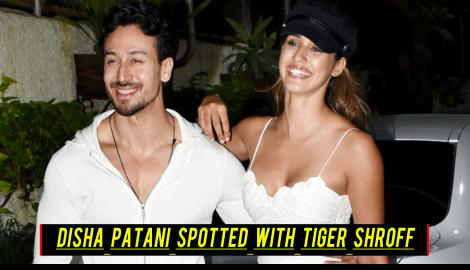 Disha Patani spotted with Tiger Shroff setting a trend with white; Check out the entire video here