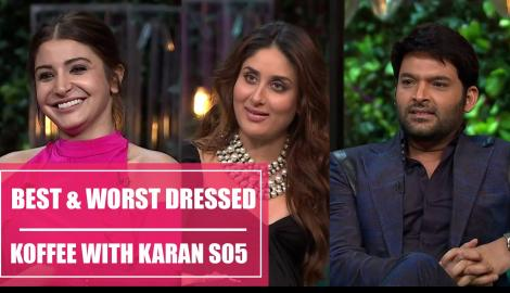 Anushka Sharma, Kareena Kapoor, Kapil Sharma- Koffee with Karan S05 best and worst dressed 2017