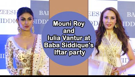 Mouni Roy and Iulia Vantur arrive in style at Baba Siddique's Iftar party
