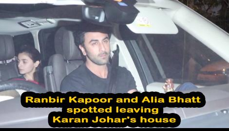 Love birds Alia Bhatt and Ranbir Kapoor, Siddharth Malhotra and others spotted outside Karan Johar's house