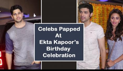 Sidharth Malhotra, Karan Johar, Manish Malhotra among others attend Ekta Kapoor's star studded birthday bash