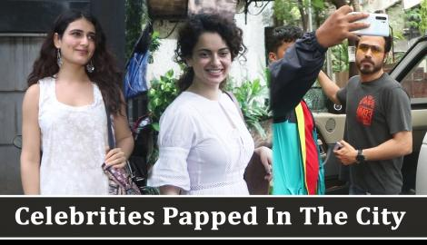 Kangana Ranaut stuns in a white outfit; Fatima Sana Shaikh and Emraan Hashmi get spotted in the city