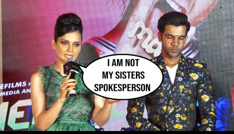 Kangana Ranaut defends her sister during the promotion of Judgementall Hai Kya