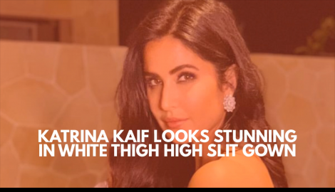 Katrina Kaif looks beautiful in a white thigh high slit gown as she attends a wedding in Bali