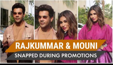 Rajkummar Rao and Mouni Roy's style is on point as they promote their film Made In China