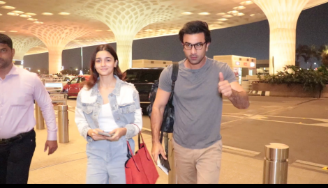 Alia Bhatt and Ranbir Kapoor make a stylish appearance at the airport