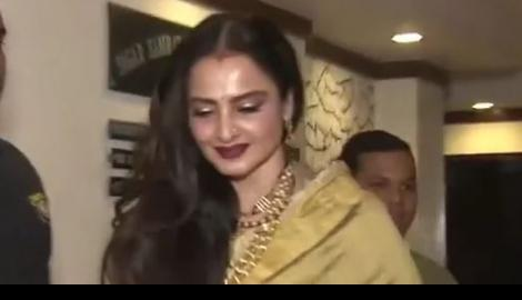 Spotted! Rekha at Javed Akhtar's birthday bash