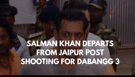 Salman Khan leaves from Jaipur after Dabangg 3 shoot, check the pictures out