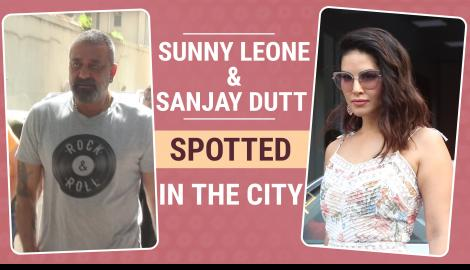 Sunny Leone and Sanjay Dutt spotted in the city