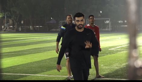 Arjun Kapoor and Ranbir Kapoor enjoy a game of football