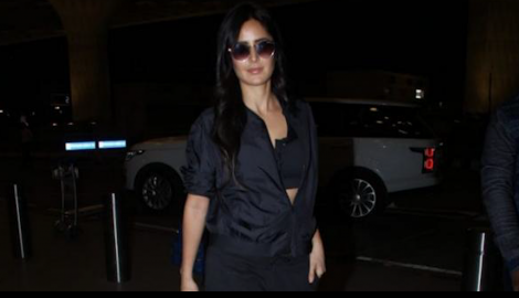 Katrina Kaif looks absolutely stunning in an all black look at the airport