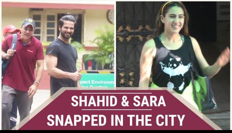 Shahid Kapoor, Sara Ali Khan and other celebs spotted around the city