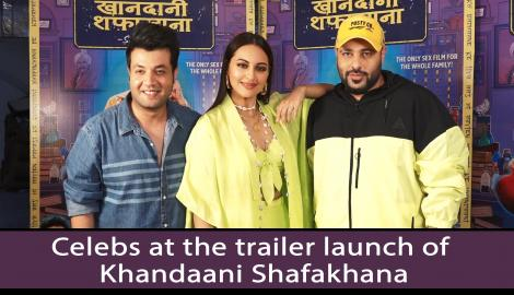 Sonakshi Sinha, Badshah and Varun Sharma at the trailer launch of Khandaani Shafakhana
